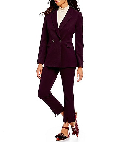 Gianni Bini Sue Classic Stretch Twill Jacket & Sue Classic Stretch Twill Split Leg Pant