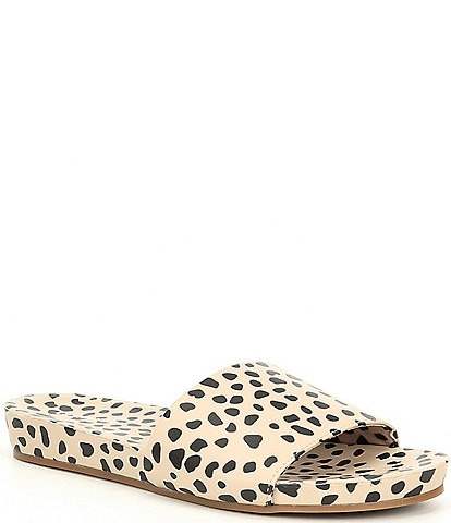 Gianni Bini Summatime Cheetah Banded Slides