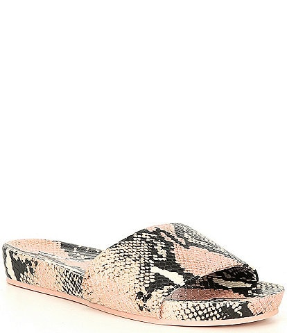 Gianni Bini Summatime Snake Print Banded Wedge Pool Slides