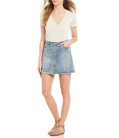 Gianni Bini Tay V-Neck T-Shirt Bodysuit