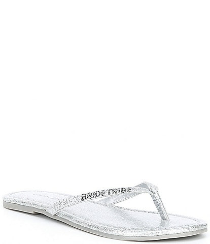 Gianni Bini Team Wifey Sparkle #double;Bride Tribe#double; Flip Flops