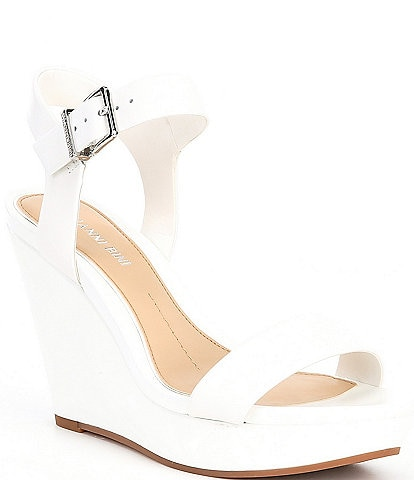 Gianni Bini Telmma Leather Open Back Wedges
