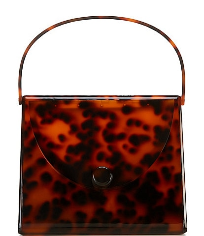 Gianni Bini Tortoise Acrylic Top Handle Minaudiere