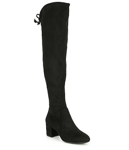 Gianni Bini Trillia Stretch Fabric Over-the-Knee Block Heel Boots