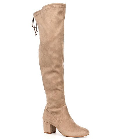 Gianni Bini Trillia Block Heel Stretch Over-the-Knee Boots