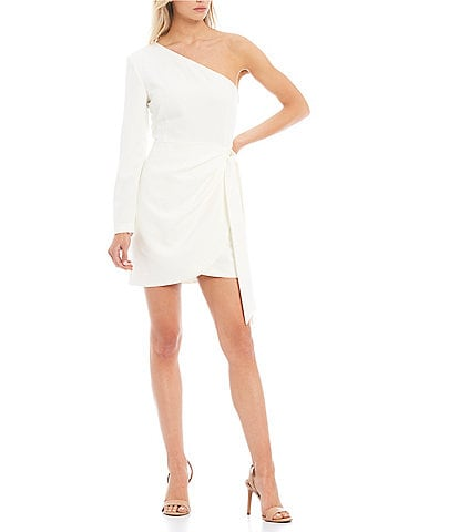 Gianni Bini Valerie One Shoulder Tie Side Mini Dress