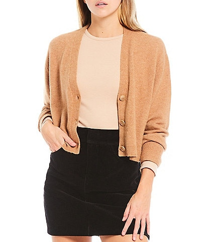 Gianni Bini Vanessa Button Front Cropped Cardigan