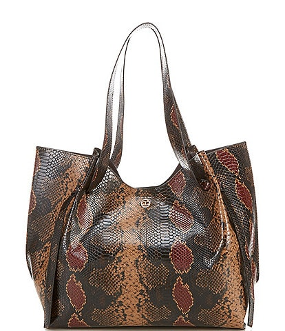Gianni Bini Winsley Snake Print Snap Tote Bag