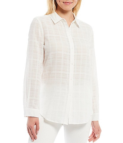 Gianni Bini Woven Kinsley Button Front Blouse