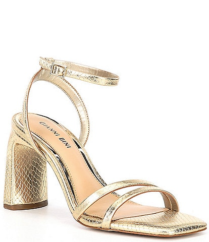 Gianni Bini Zarriah Snake Embossed Strappy Dress Sandals