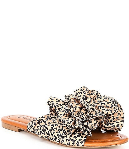 Gianni Bini Zereena Cheetah Print Bow Slides