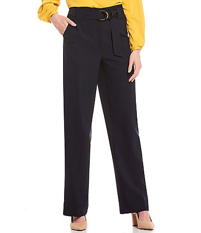 Gibson & Latimer Belted Straight Leg Stretch Pant