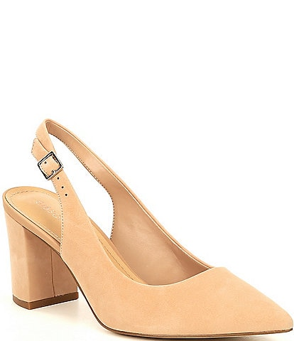 Gibson & Latimer Bethani Pointed Toe Slingback Pumps