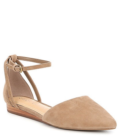 Gibson & Latimer Camila Suede Two-Piece Flats