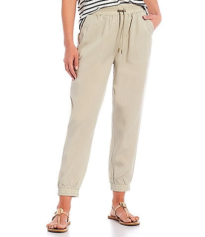 Gibson & Latimer Cuffed Jogger Drawstring Woven Ankle Length Pants