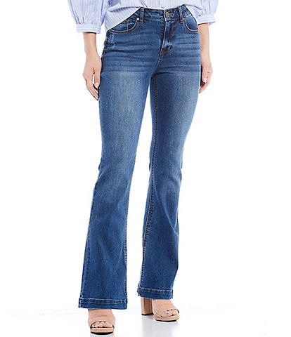 Gibson & Latimer High Waist Flare Leg Denim Jeans