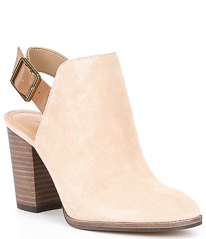Gibson & Latimer Jaelyn Suede Ankle-Band Block Heel Shooties