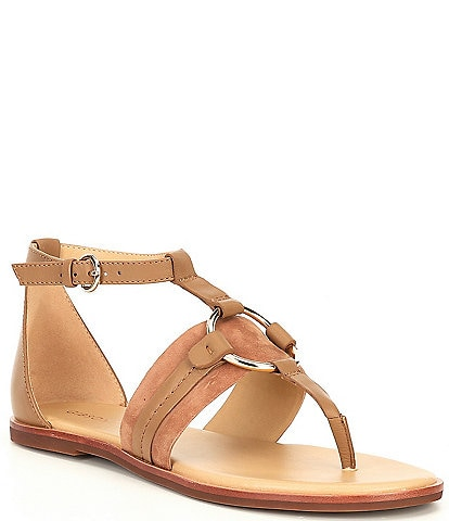 Gibson & Latimer Jaylee Circle Ornament Leather Sandals