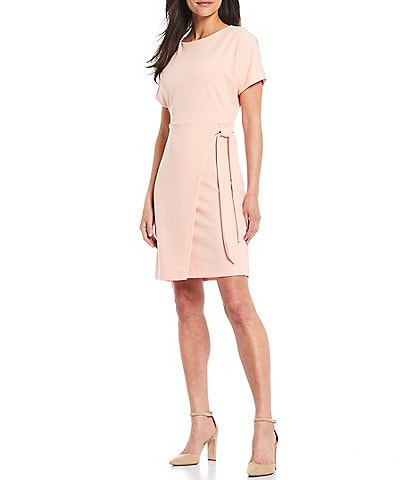Gibson & Latimer Knot Front Short Sleeve Knit Dress
