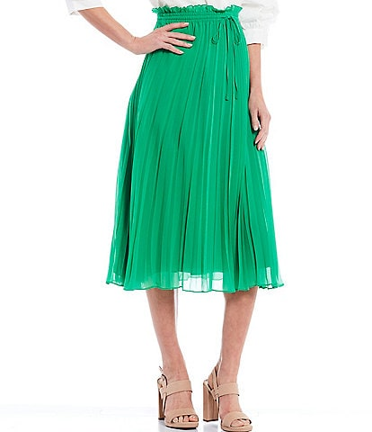Gibson & Latimer Pleated A-Line Skirt