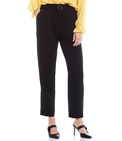 Gibson & Latimer Pleated Front Belted Trouser