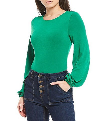 Gibson & Latimer Puff Sleeve Knit Bodysuit