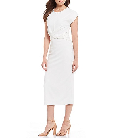 Gibson & Latimer Ruched Waist Midi Dress