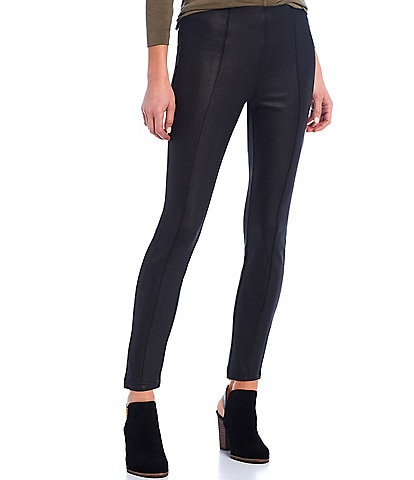 Gibson & Latimer Seam Front Coated Ponte High Rise Pant