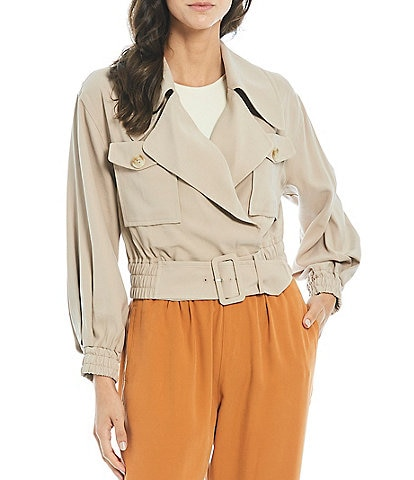 Gibson & Latimer Short Belted Trench Jacket