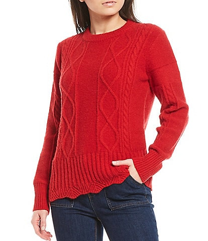 Gibson & Latimer Stitch Mix Cable Sweater
