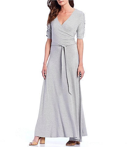 Gibson & Latimer Stretch Knit Wrap Dress