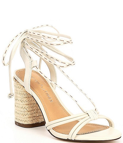 Gibson & Latimer Tasha Strappy Leather Lace Up Sandals