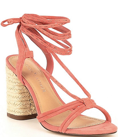 Gibson & Latimer Tasha Strappy Suede Lace Up Sandals