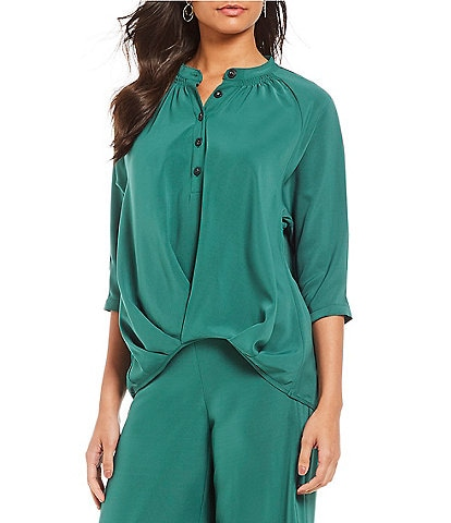 Gibson & Latimer Tuck Front Slouchy Blouse