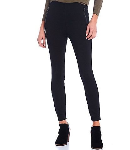 Gibson & Latimer Two Faux Zip Pocket High Rise Ponte Leggings