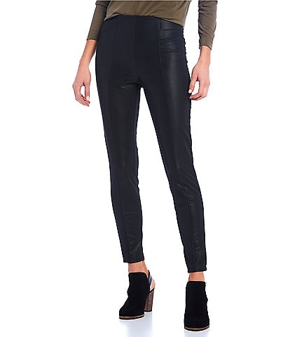 Gibson & Latimer Vegan Leather High Rise Ponte leggings