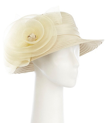 Giovannio Crinoline Rose Profile Ribbon Dress Hat