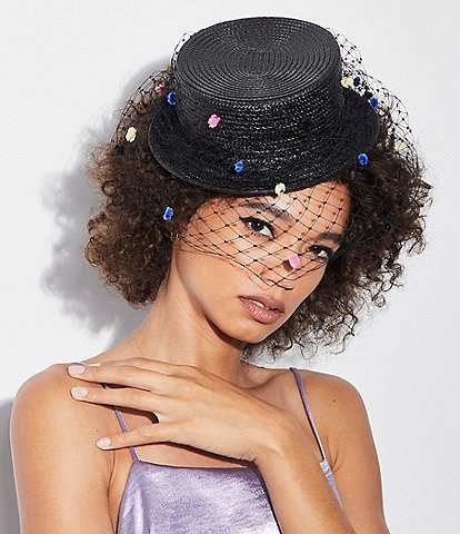 Giovannio Miniature Top Hat with Veil