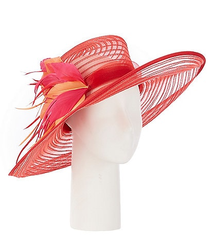 Giovannio Queens Crown Feather Dress Hat