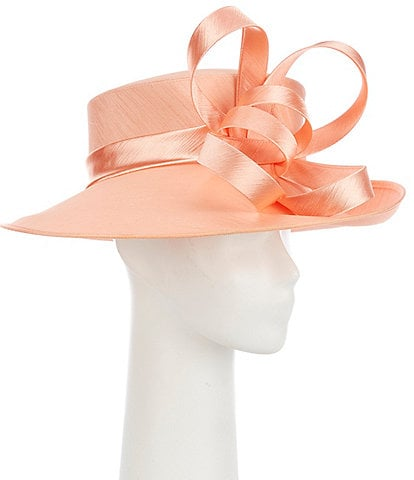 Giovannio Queens Crown Shantung Covered Dress Hat