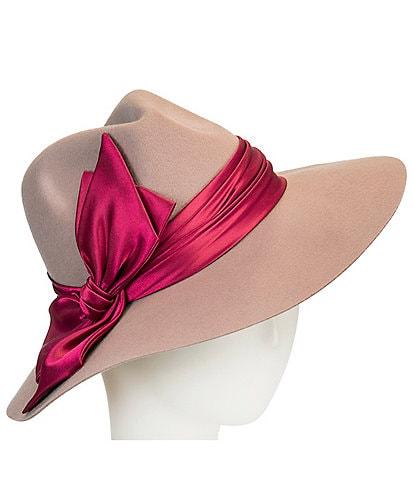 Giovannio Satin Bow Wool Rancher Hat