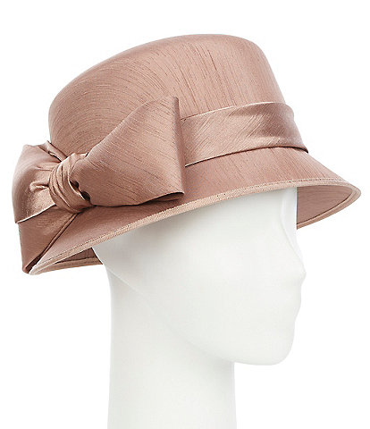 Giovannio Shantung Covered Cloche Hat