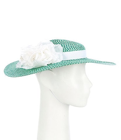 Giovannio Three Color Boater Dress Hat