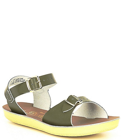 Saltwater Sandals by Hoy Girls' Sun-San Surfer Water Friendly Leather Sandals (Youth)
