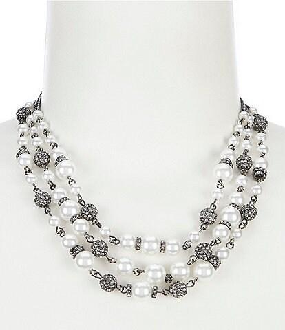 Givenchy 3 Row Collar Necklace
