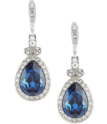 Givenchy Blue Stone Drop Earrings