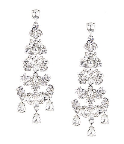 Givenchy Crystal Chandelier Statement Earrings