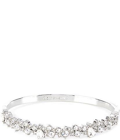 Givenchy Crystal Cluster Bangle Bracelet