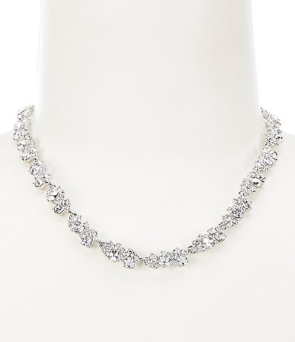 Givenchy Crystal Cluster Collar Necklace