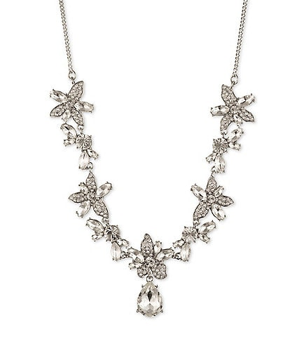 Givenchy Crystal Flower Frontal Necklace